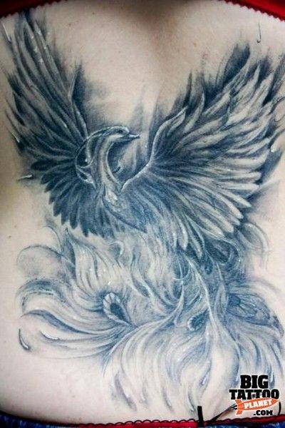 Feniks Tatuaż Na Plecach Szukaj W Google Totto Pinterest