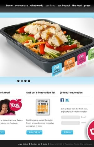 capture d'écran du site de revolution foods.