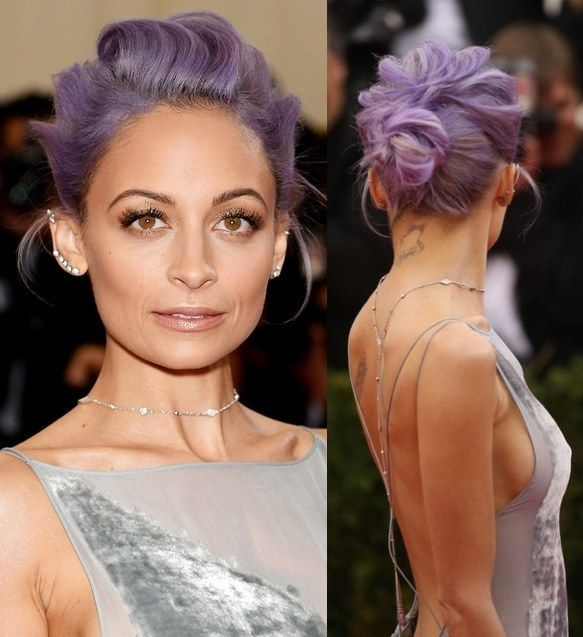 nicole richie purple hairdo