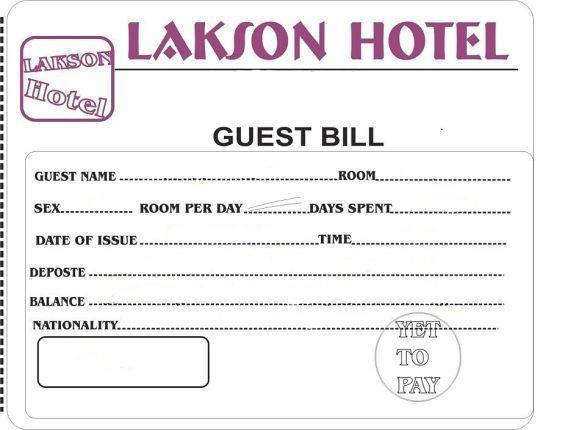 Hotel Bill Format In Word 6461 Microsoft Word Invoice Template Invoice Format In Excel Invoice Template Word