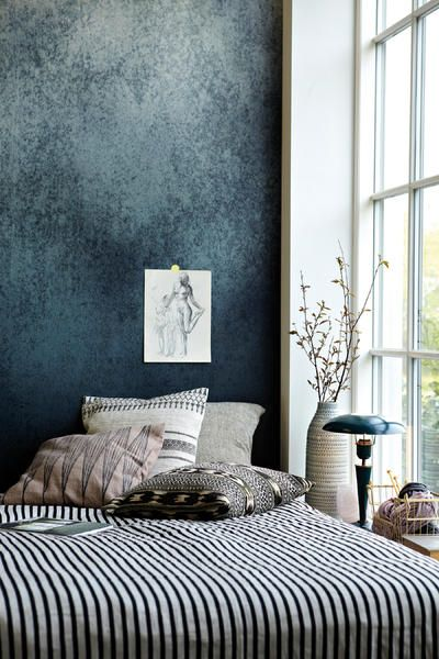 Tapete im Metallic-Look Wand, Interiors and Walls
