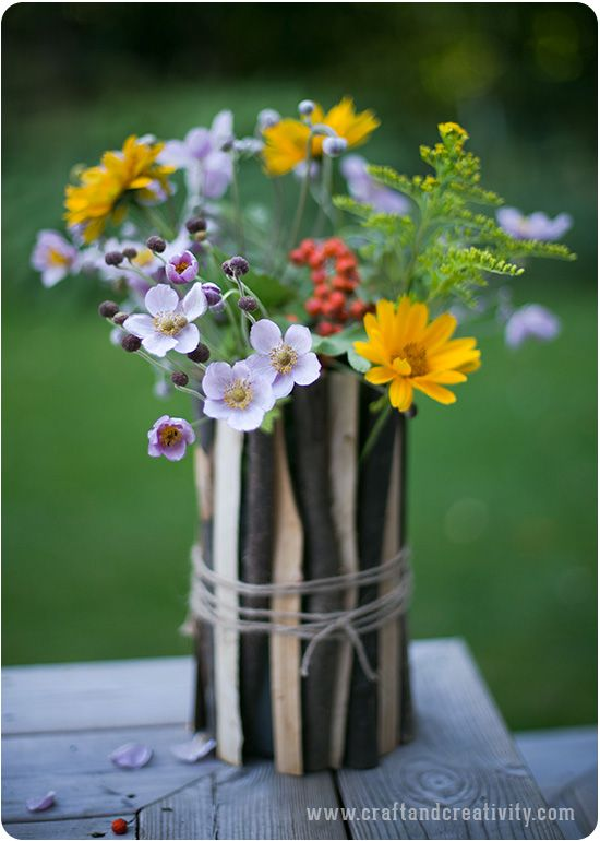 Simple Flower Vase By Craft Creativity Diy Pinterest