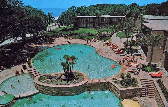 Broadwater Beach Hotel Pool Biloxi Ms Around 1960s Biloxi