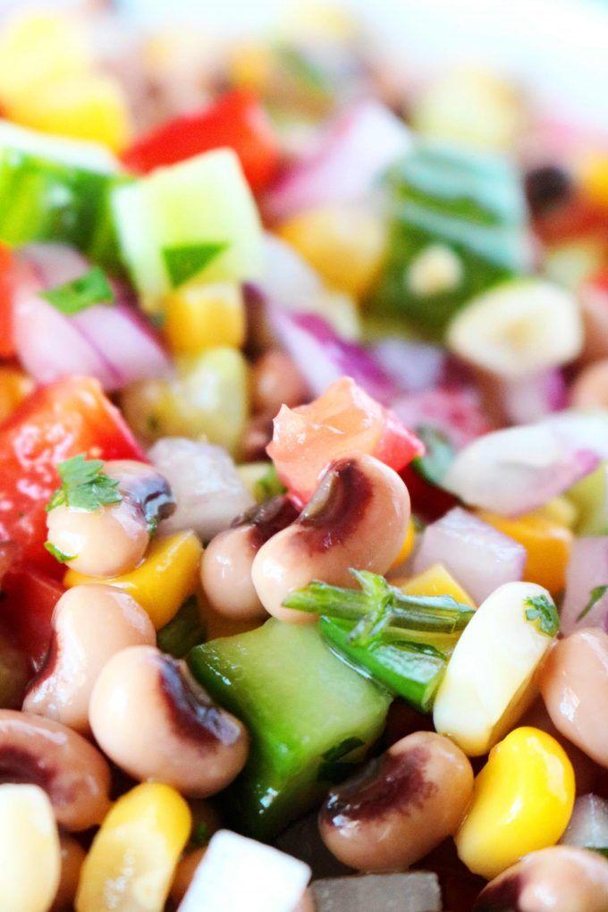 black eyed pea salad  recipe in 2020  pea salad black