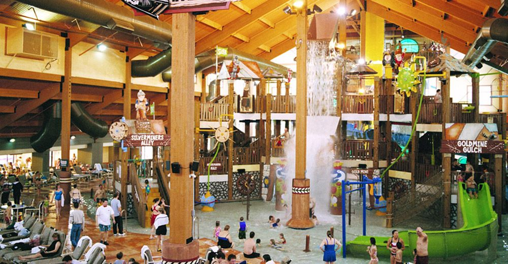 Wild West Indoor Waterpark Featuring Thrill Rides Like The Black Hole And Fantastic Voyage Plus Twisting Tub Wisconsin Travel Water Park Wilderness Resort
