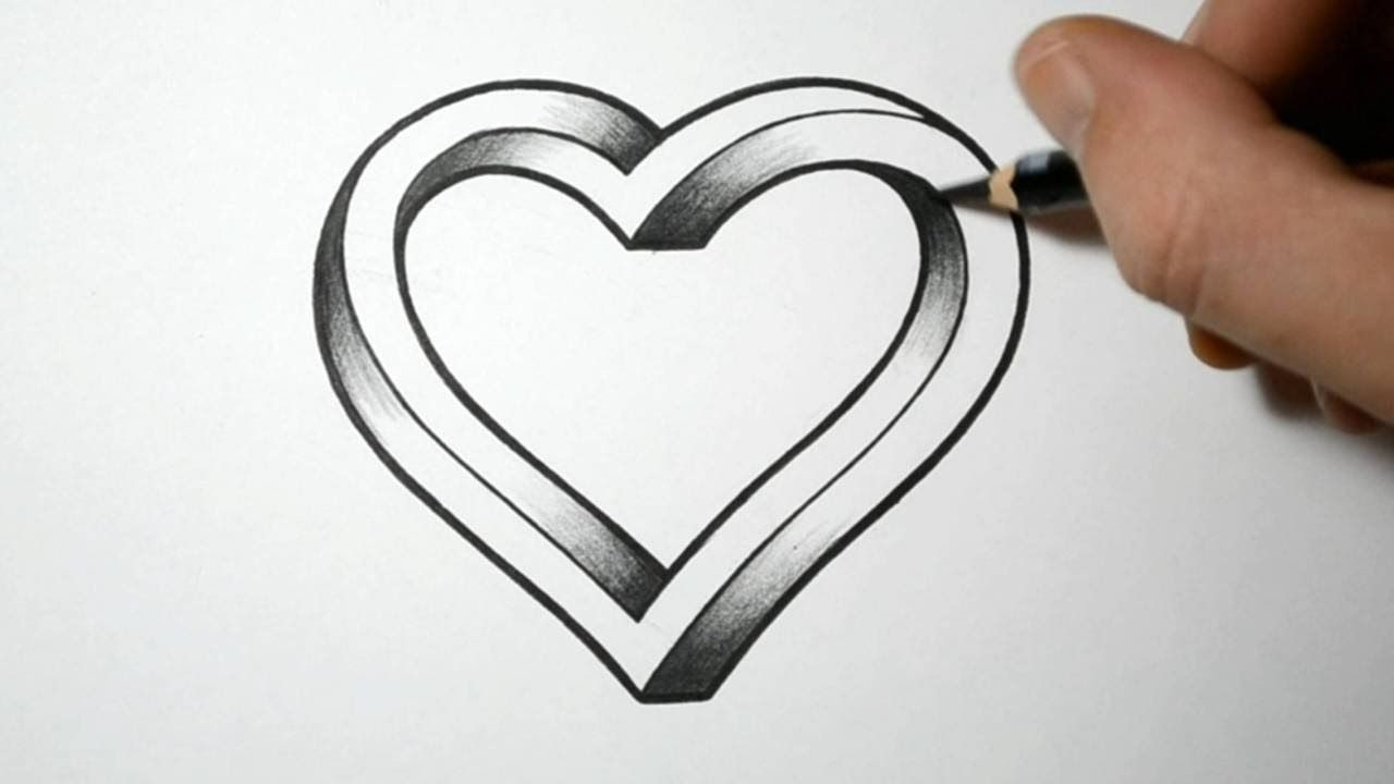 Coeur Dessin 3d How To Draw An Impossible Heart Malen Pinterest Comment
