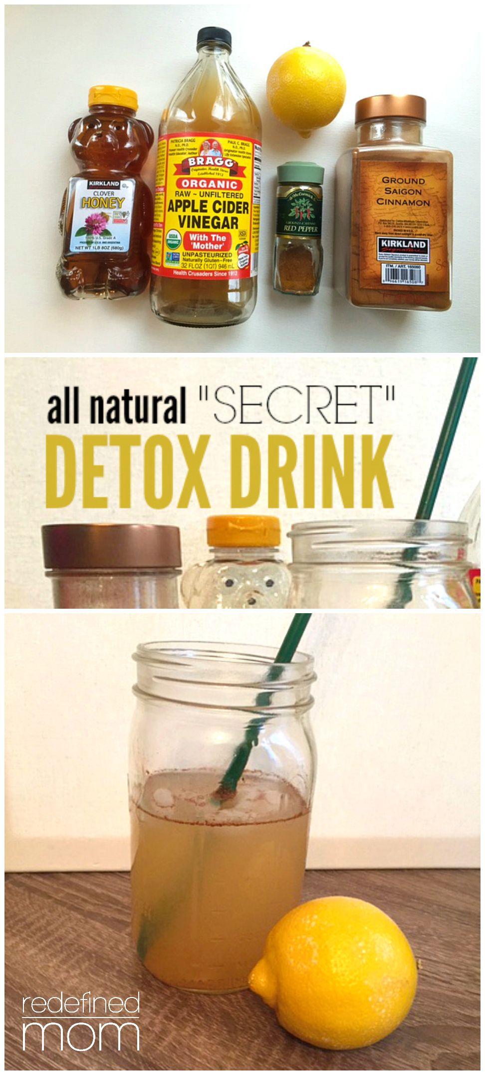 All Natural Secret Detox Drink Recipe