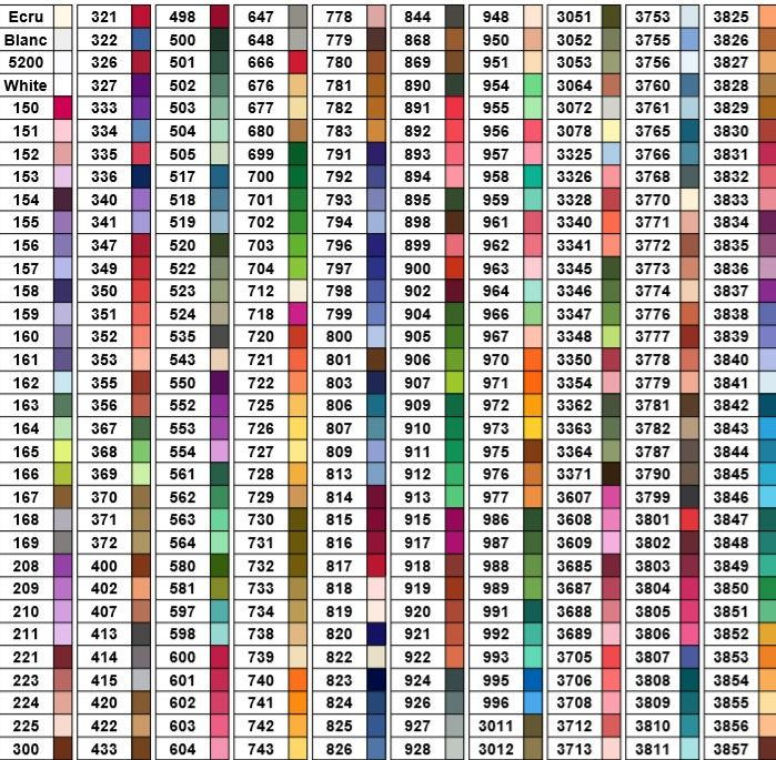 It's just a photo of Clean Dmc Color Chart 2020 Printable