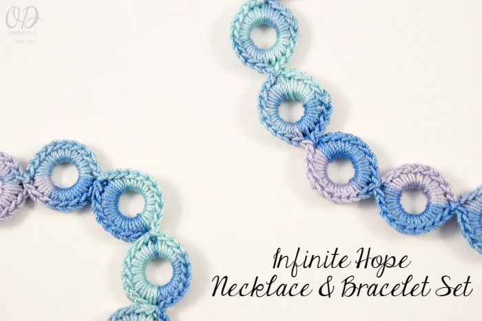 Infinite Hope Necklace and Bracelet Set Free Pattern | Pinterest ...