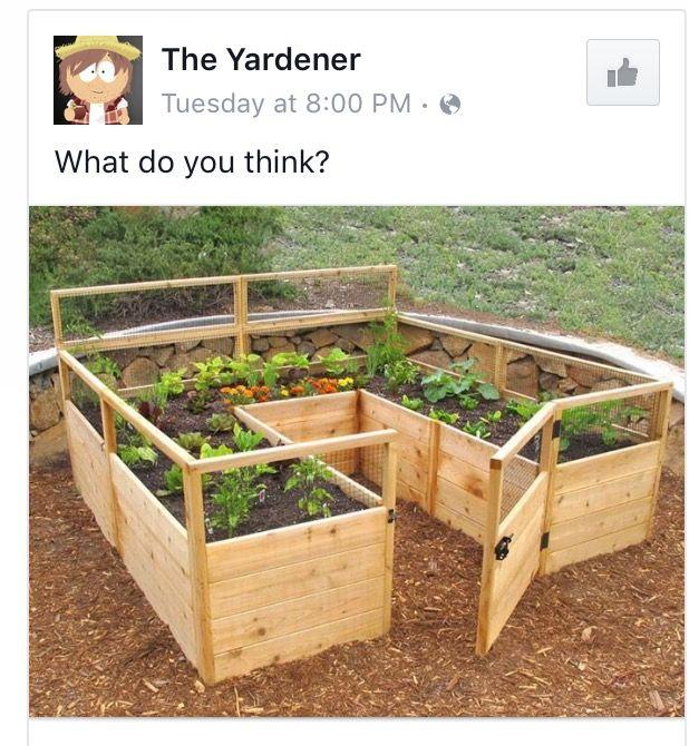 Herb Garden On Fence: Jardins, Potager Surélevé