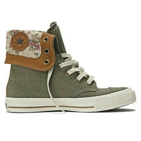 a11fdb66b1c Converse Chuck Taylor All Star Green   Floral Print High Top.