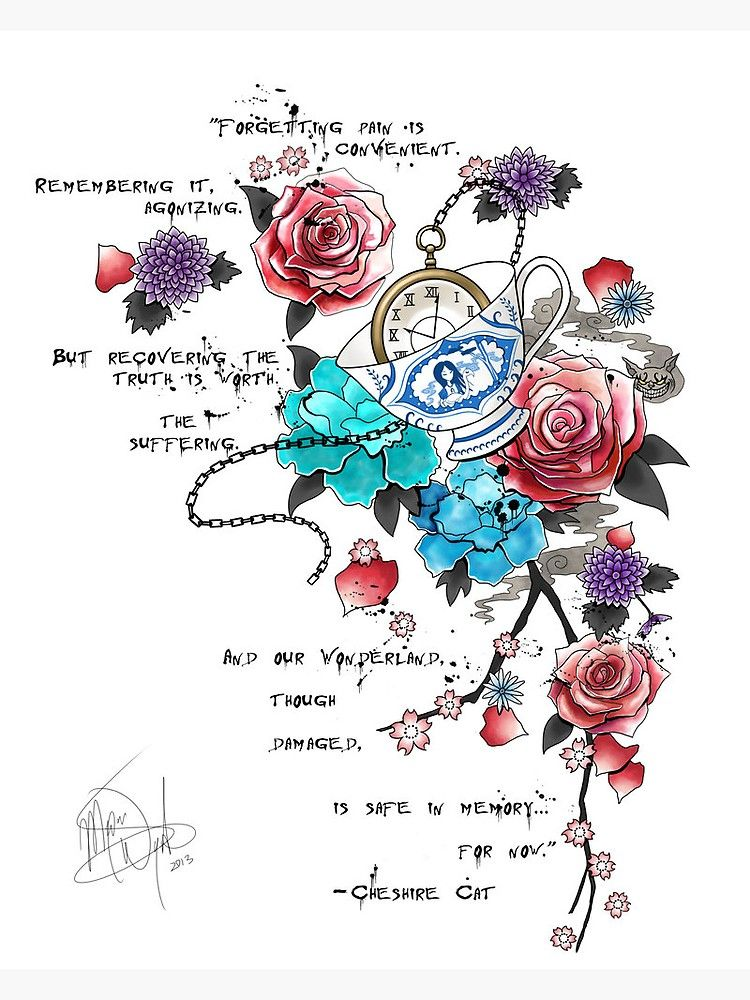 Alice in wonderland  Sticker by HanaWill