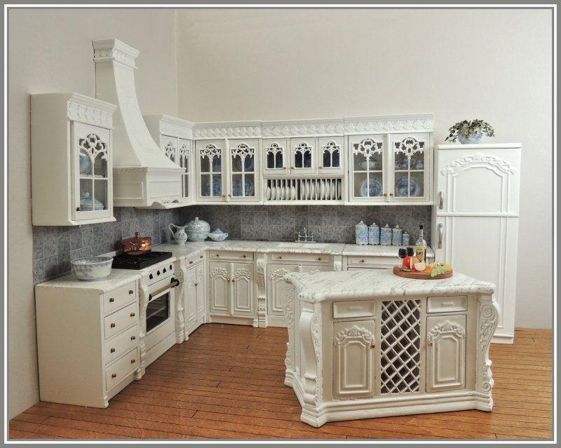 Entire Chef Julia S Kitchen Set White Save 10 8201 W Set Dollhouse Kitchen Dollhouse Miniatures Kitchen Miniature Kitchen