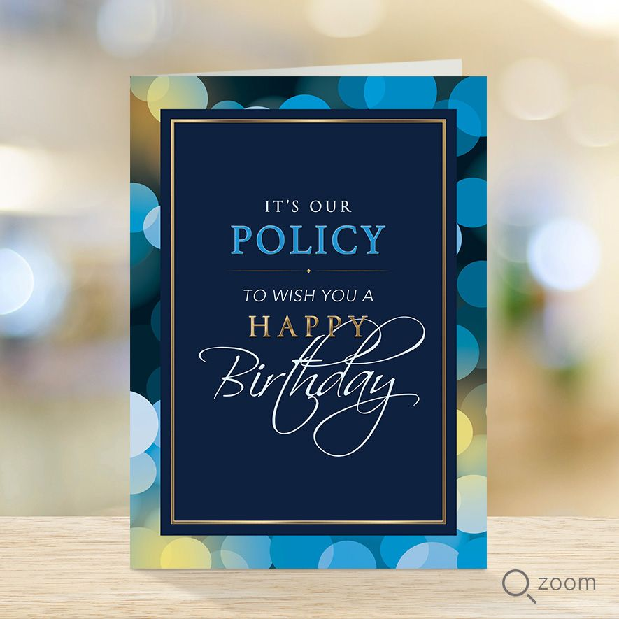 Insurance Birthday Cards Envelopes With Images Birthday