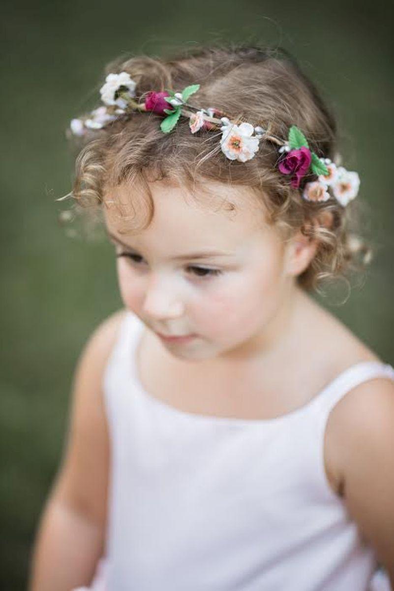 Flower girl Halo Bridal wedding flower crown burgundy Wine silver hair  wreath headpiece blush girl Winter accessories Fall circlet by AmoreBride  on Etsy d6e4bf1c279