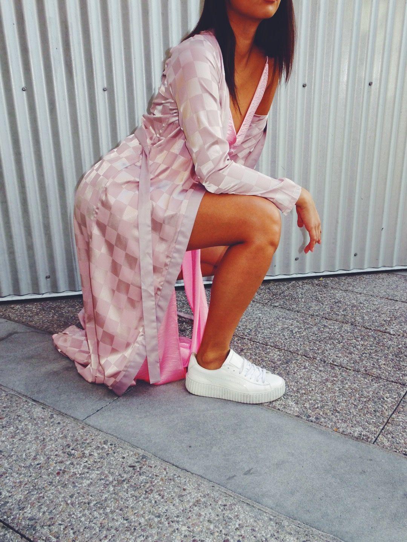 www.prettysavages.com #fashion #pink #satin #womensfashion #ootd #style #chic