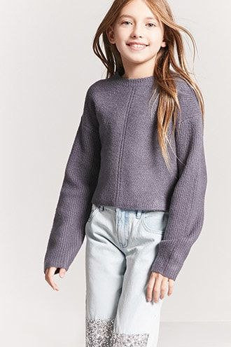 Girls Brushed Knit Sweater (Kids)