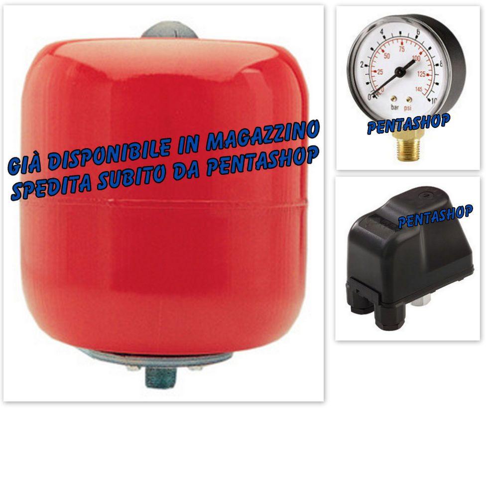 Idrosfera per autoclave da 24 litri, pressostato per autoclave, manometro 0-10