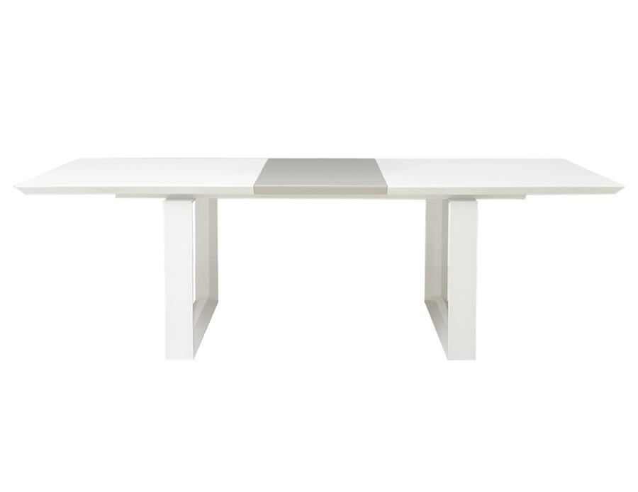 Modern White Lacquer Conference Table With Gray