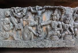 Sri Rama giving Mudra to Hanuman to give it to Sita.