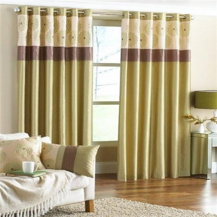 Brown and green curtains for living room curtain for Brown green and cream living room ideas