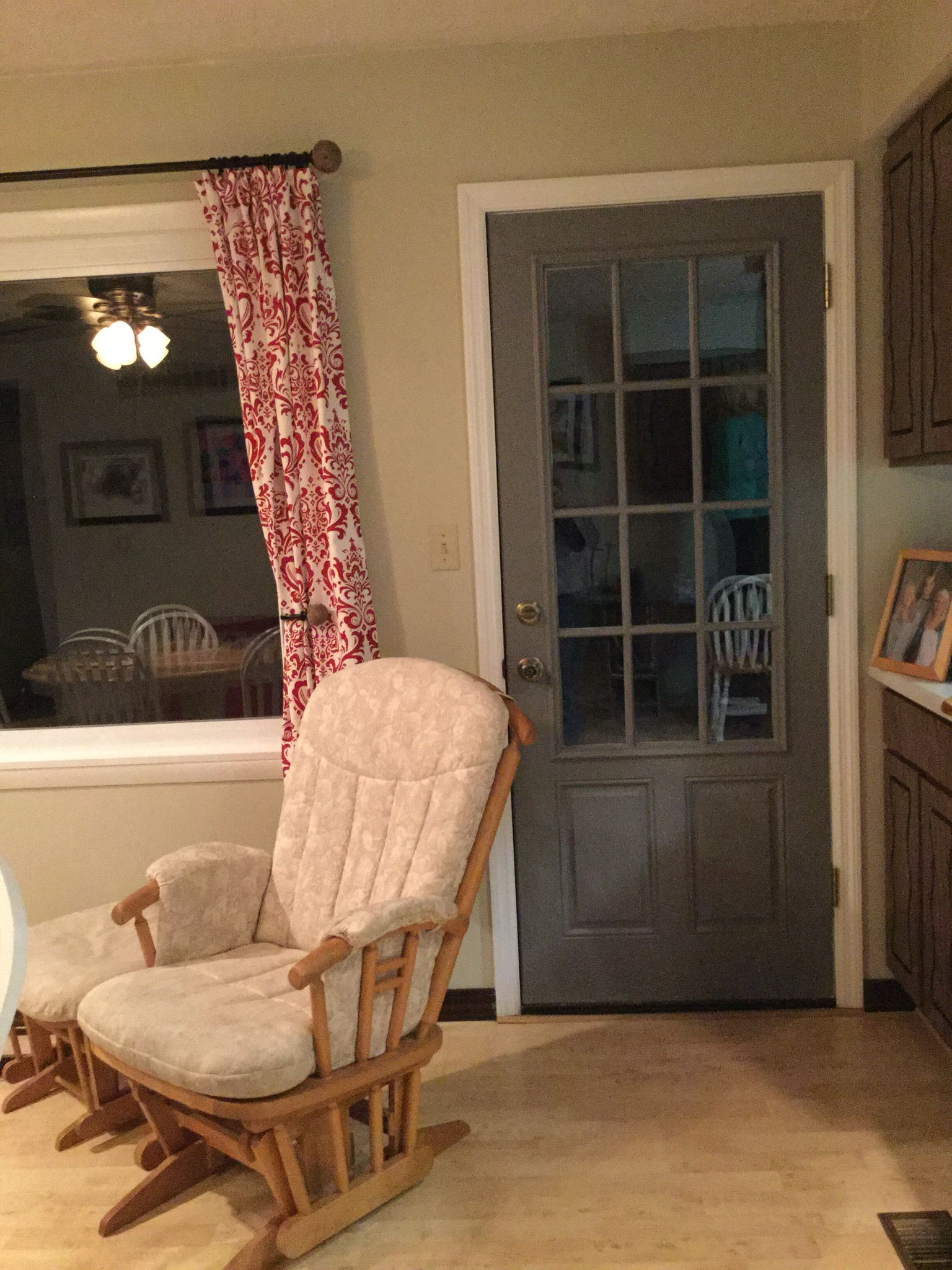 Back door seal gray glidden new curtains kitchen project