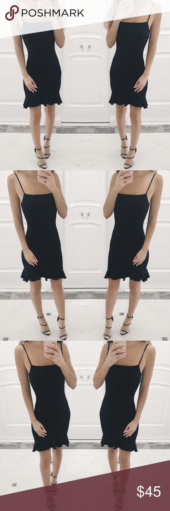 Giuliana Ruffle Bottom Black Dress Clothes Design Black Strappy Dress Fashion Design [ 1740 x 580 Pixel ]