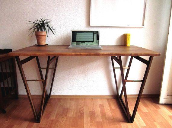 Table à écrire bois massif hêtre bureau d étude solide bureaux d