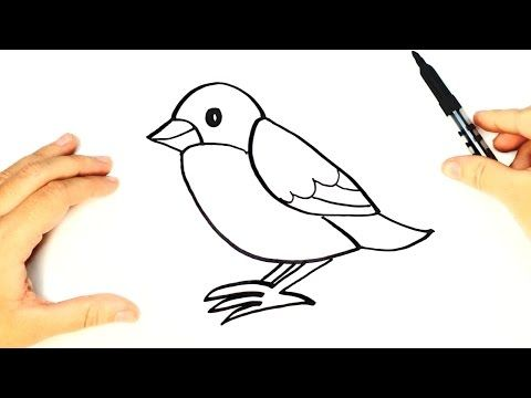 How To Draw A Bird For Kids Bird Drawing Lesson Step By Step Youtube Bird Drawings Birds For Kids Drawing For Kids