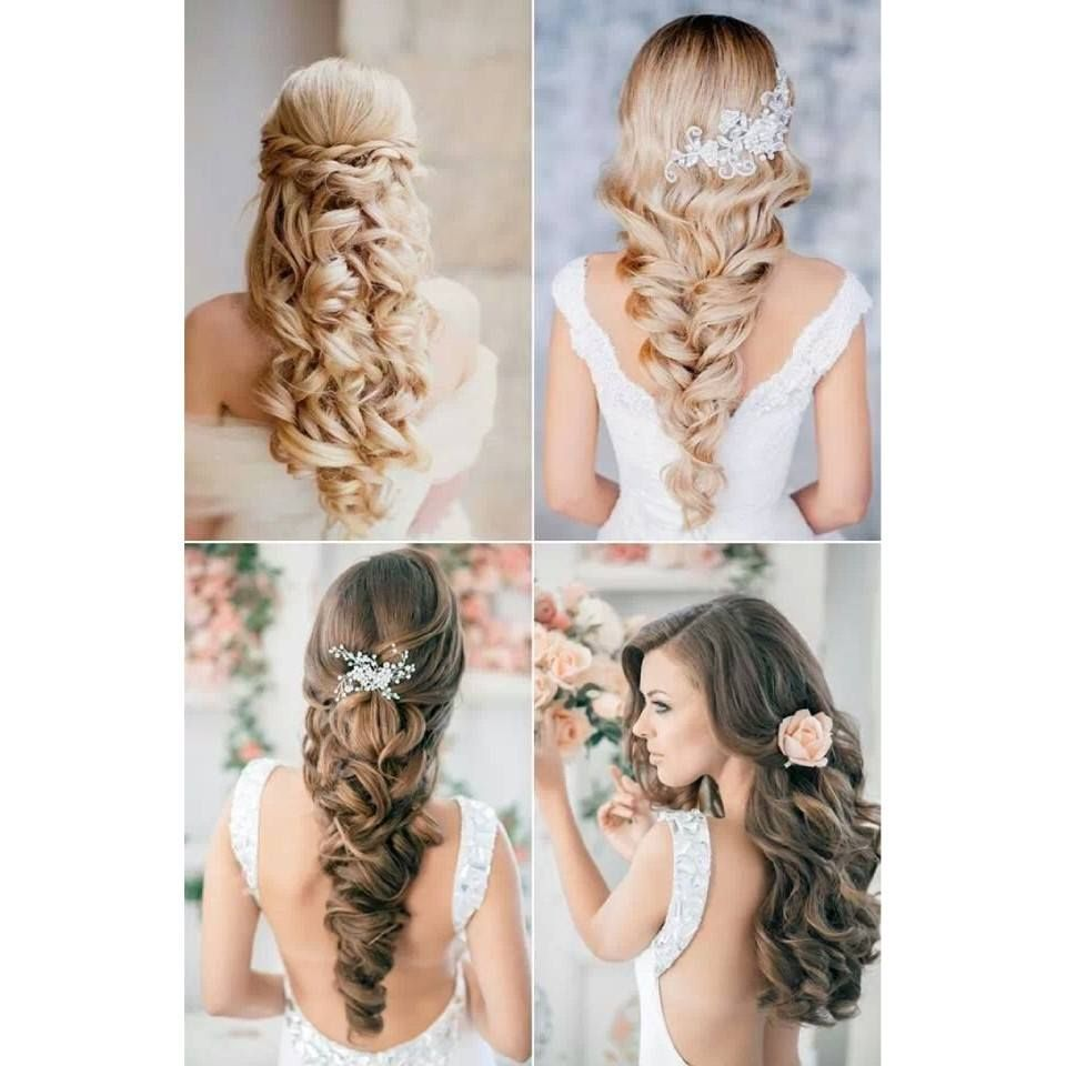bridal hair | hair | wedding hairstyles, prom hair, long