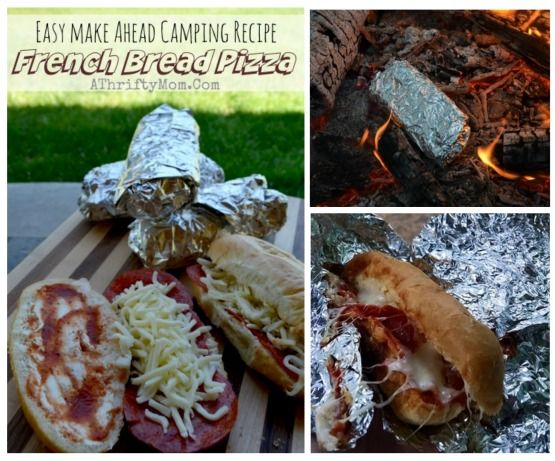 Campfire Cooking Easy Outdoor Camping Menu Recipe Ideas French Bread Pizza Made