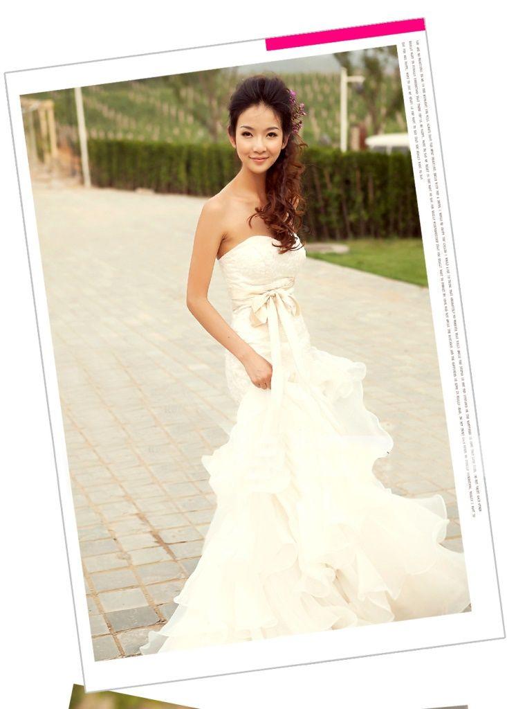 f5d087af8005e  赤字覚悟 マーメイドライン 編み上げタイプ 豪華な ウェディングドレス☆ロングドレス☆
