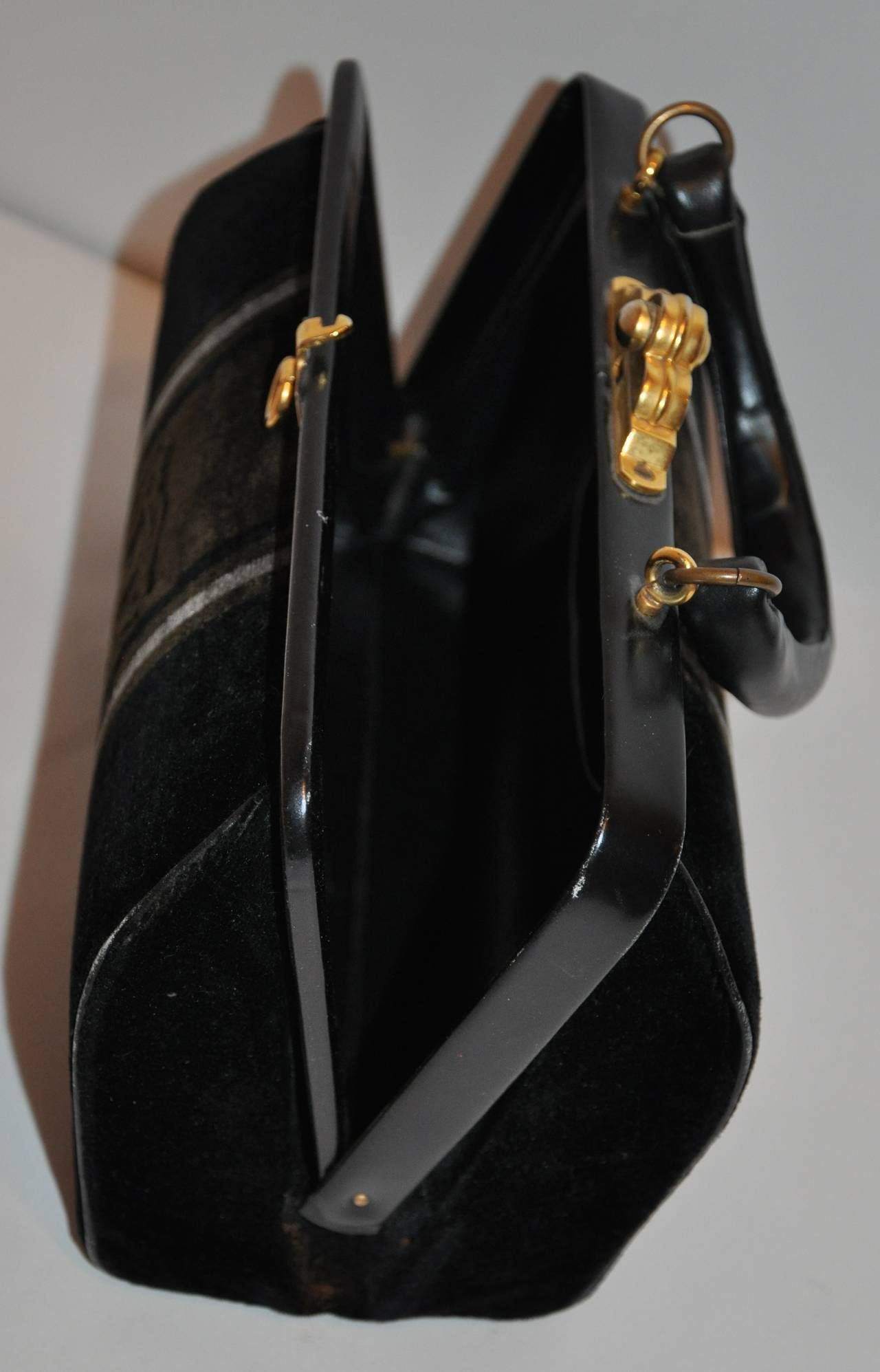 Roberta Di Camerino Velvet And Leather Purse ohuH8lMf