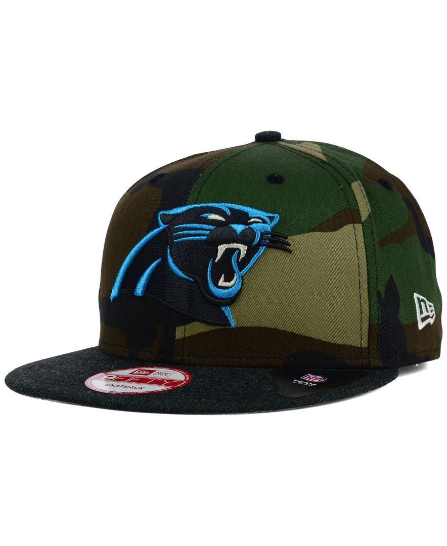 New Era Carolina Panthers Camo Heather 9FIFTY Snapback Cap ... 2aeac742c