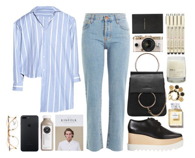"""""""BLOSS"""" by mariimontero ❤ liked on Polyvore featuring Current/Elliott, Vetements, STELLA McCARTNEY, Persol, Chanel, Le Labo, Urban Outfitters and Smythson"""