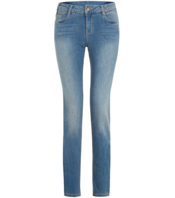 Blue Faded Skinny Jeans