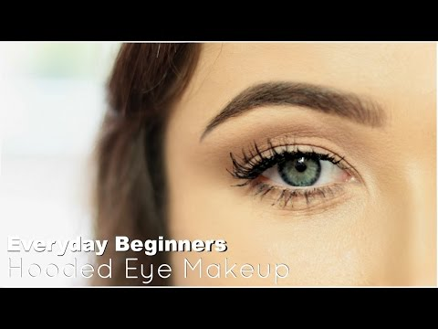 beginner eye makeup for hooded eye  everyday hooded