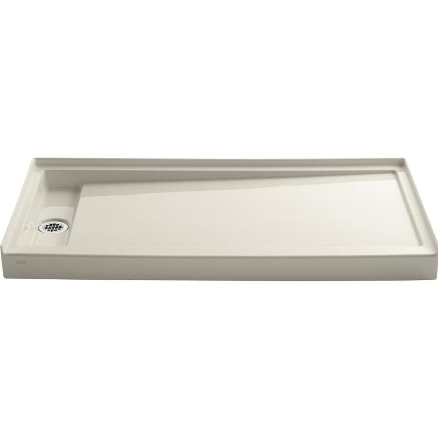 Kohler Groove Almond Acrylic Shower Base 32 In W X 60 In L With