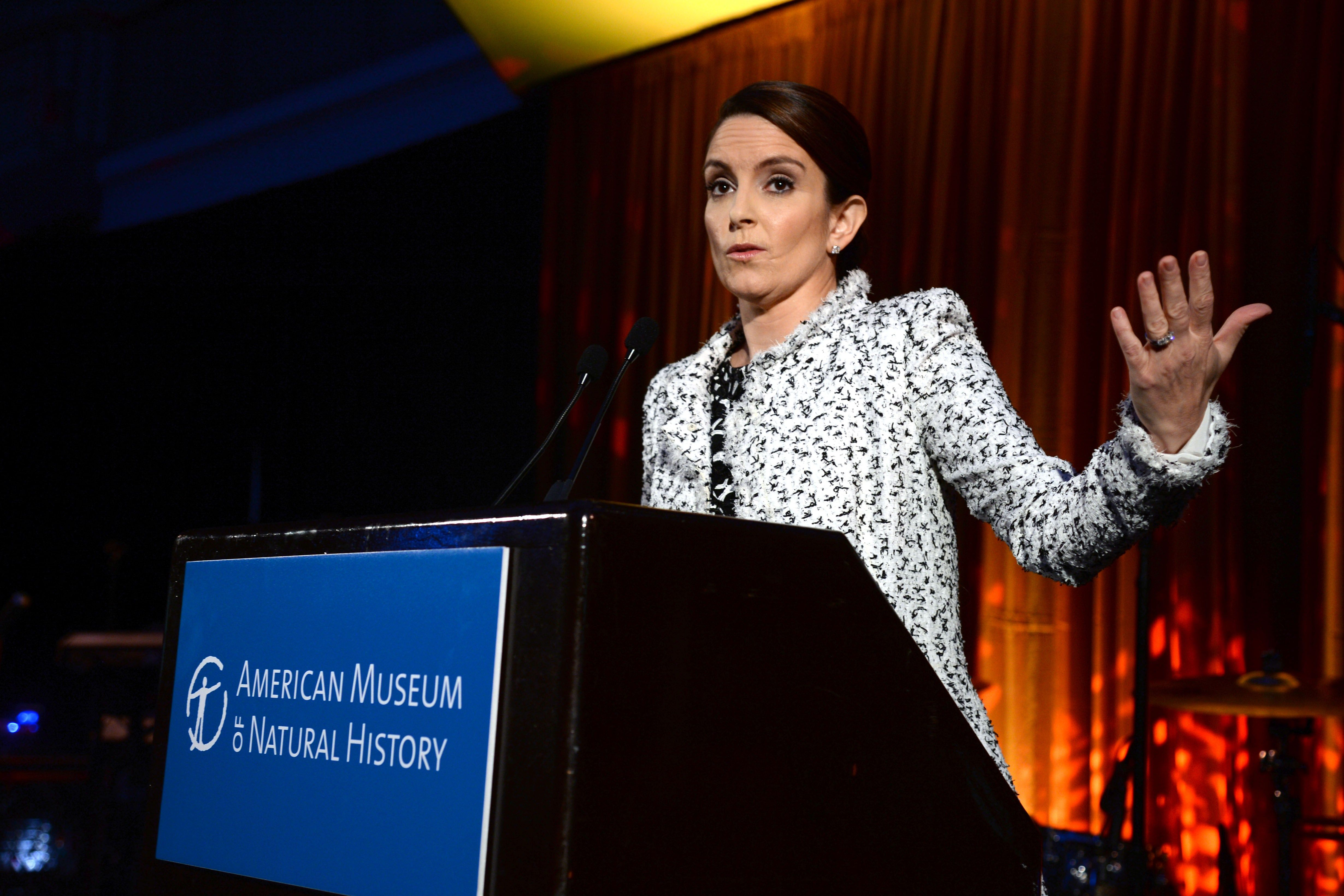 I just need to get something off my chest: No one wears a jacket like Tina Fey. God bless. *slow, resounding applause*