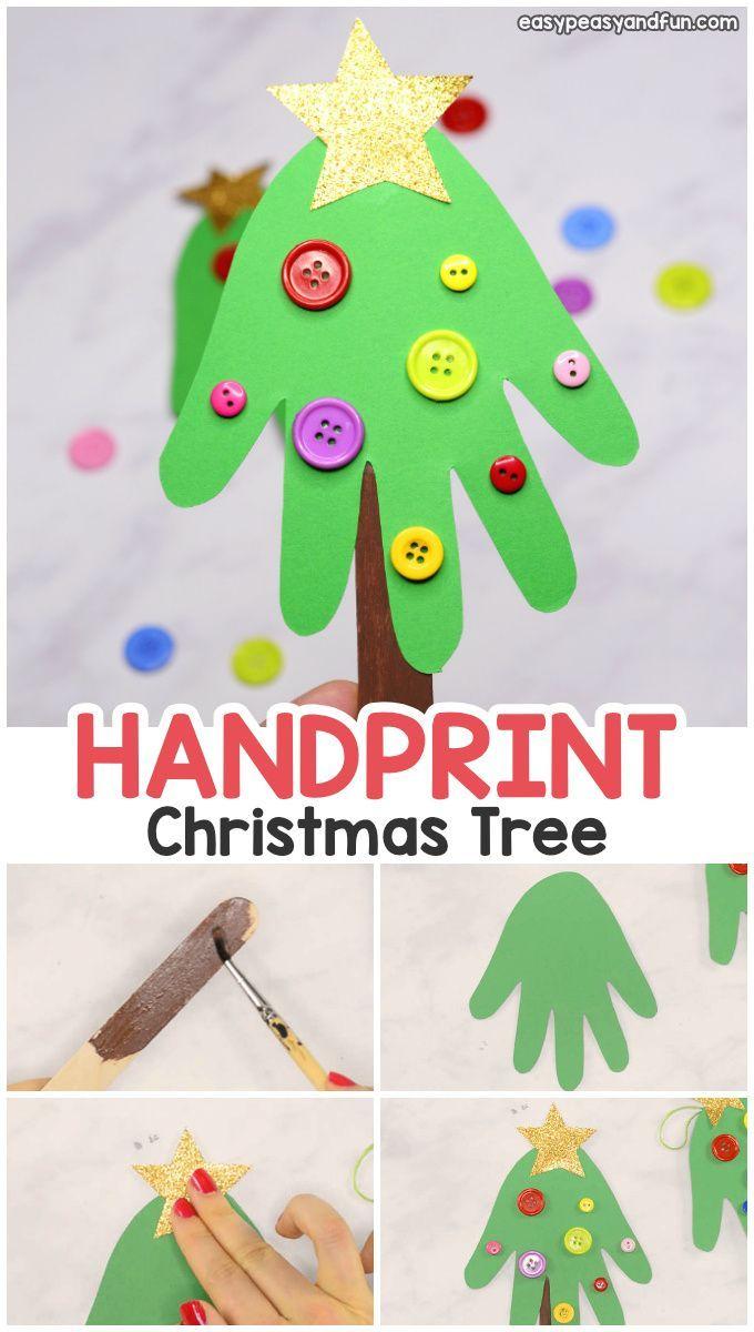Handprint Christmas Tree Christmas Craft For Kids Or A Diy