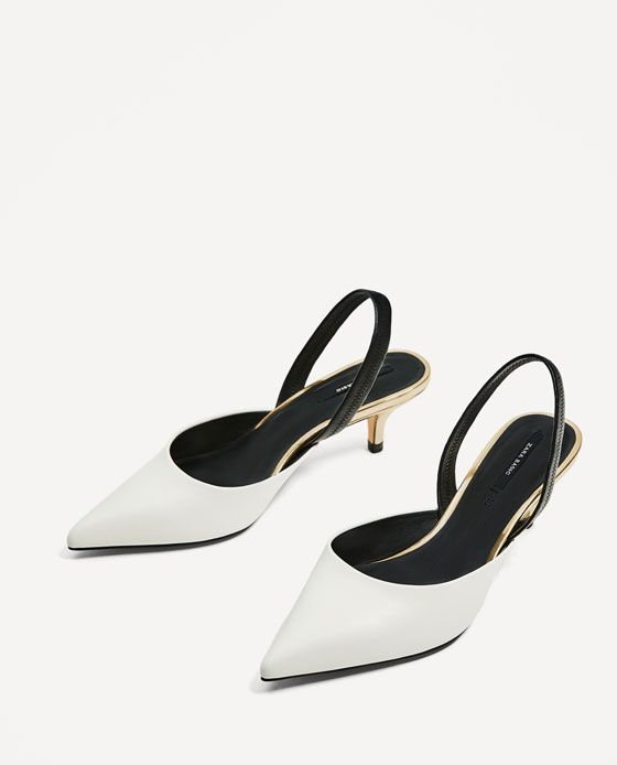 642c7af773b Image 5 of CONTRASTING SLINGBACK HEELED SHOES from Zara