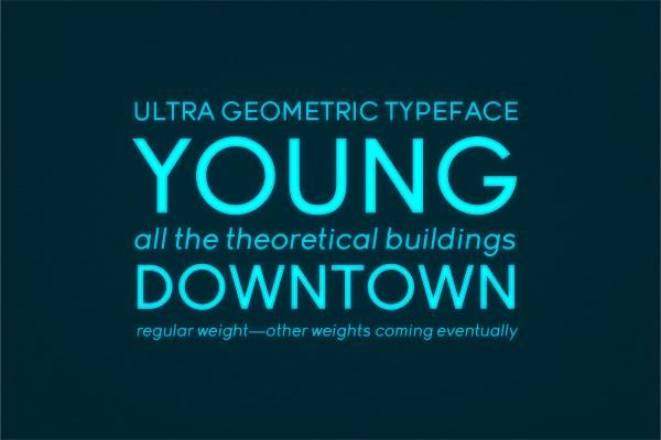 Anita PW – Geometric & Rounded Font on Inspirationde