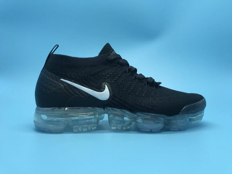 c3b80fd83dc 2019 的 Nike Air Vapormax Flyknit 2 Running Shoes Black White