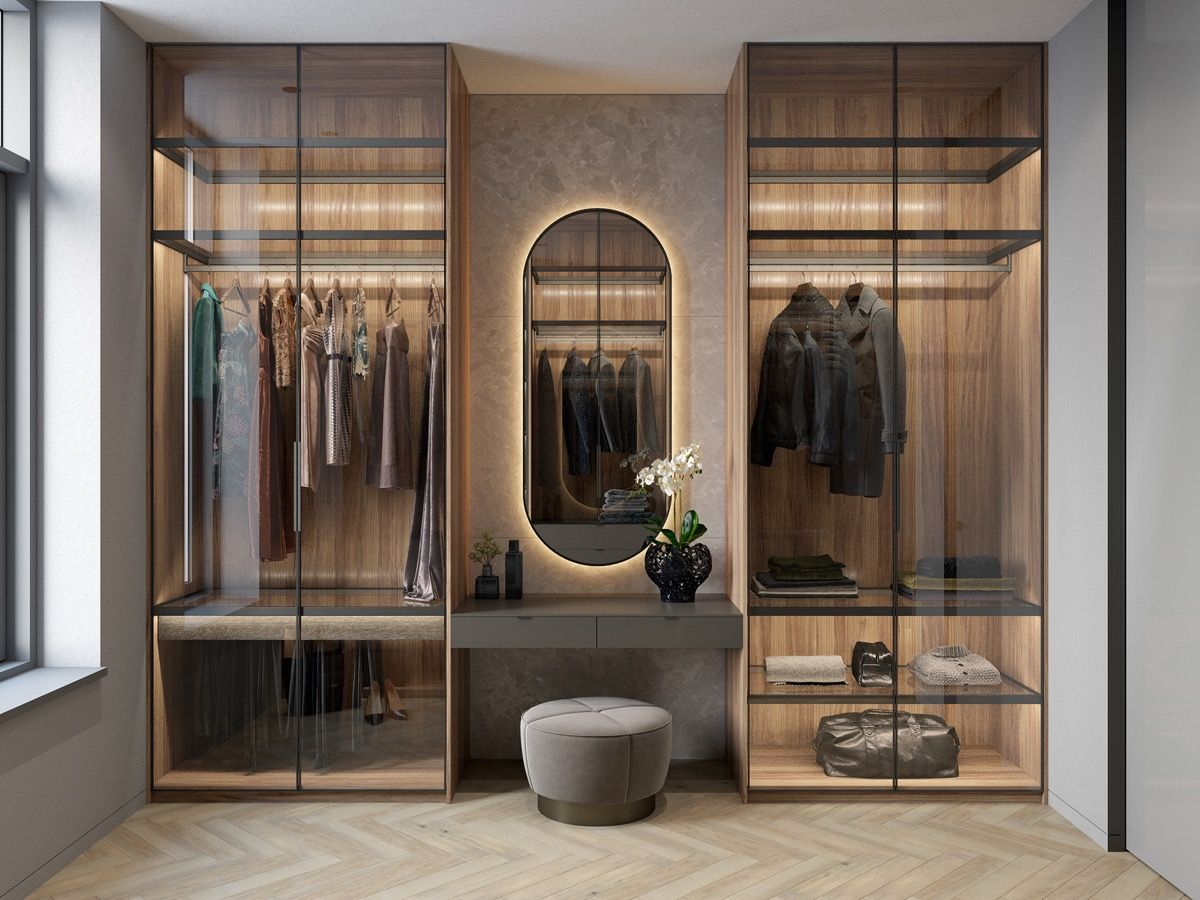 Walk-in wardrobe design ideas