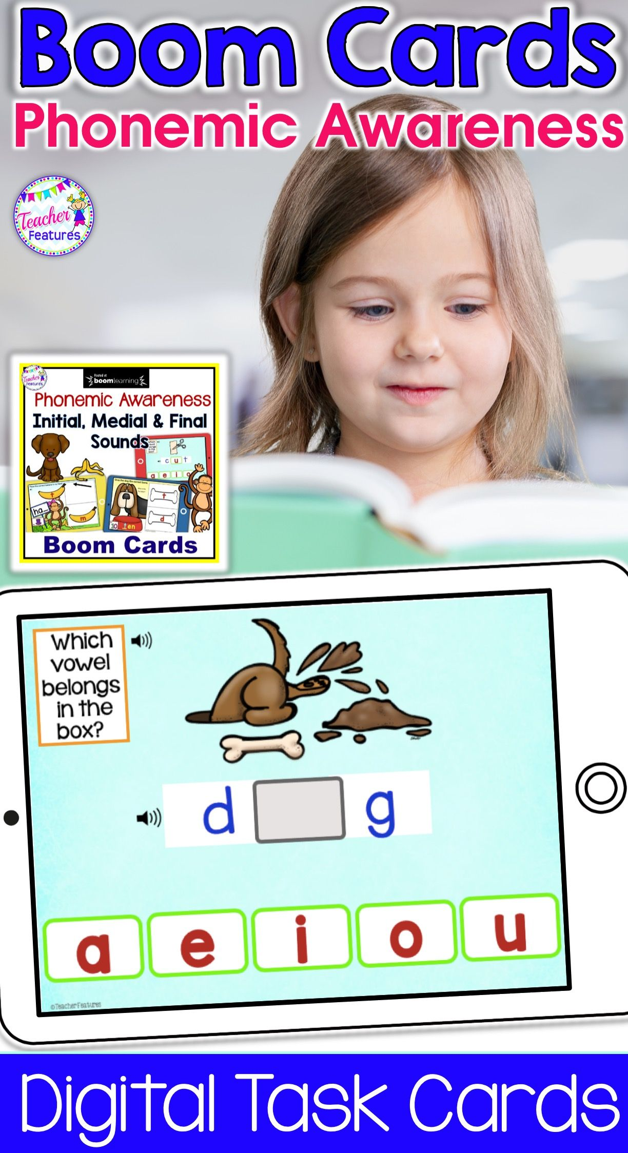 Boom Cards Phonological Awareness Cvc Words Initial