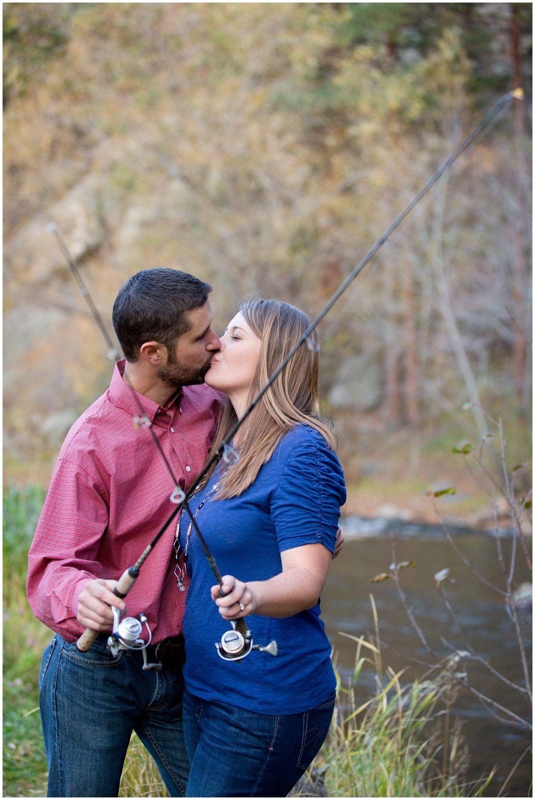 Plum Pretty Photography | Colorado Mountain Engagement Photos | Morrison Photographer | Colorado Engagement Photography | Fishing Engagement Photos