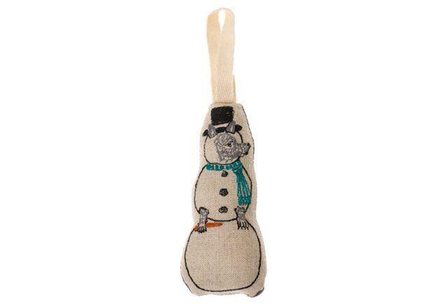 Snowman Wolf Ornament