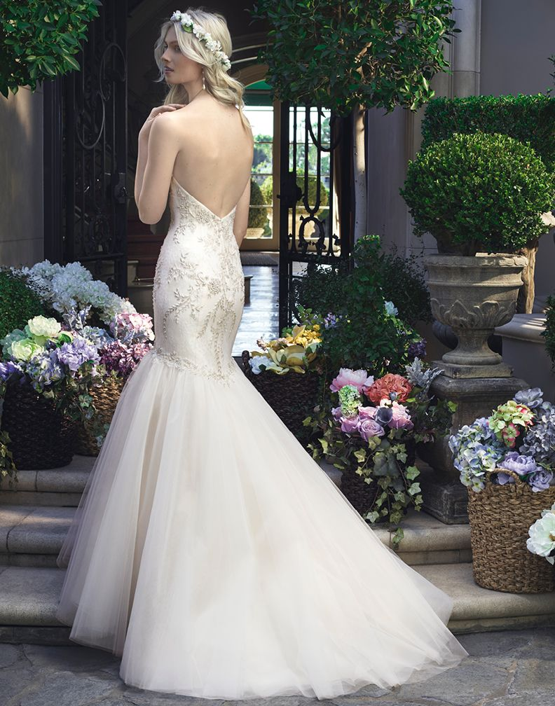 2219 casablanca bridal wedding dresses low back