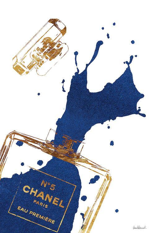 Photo of Gold Perfume Bottle With Navy Blue Splash C… | Amanda Greenwood | iCanvas – Homemade Tattoo 2020