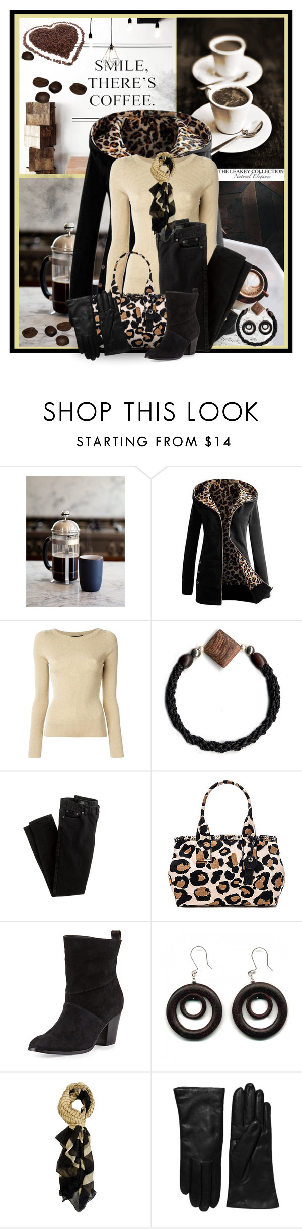 """""""Smile, There's Coffee"""" by theleakeycollection ❤ liked on Polyvore featuring Tiger Mist, Dolce&Gabbana, J.Crew, Marc by Marc Jacobs, Bernardo, Saks Fifth Avenue Collection, women's clothing, women, female and woman"""